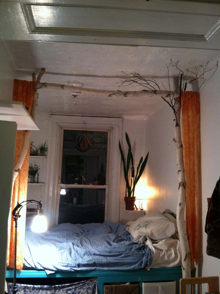 The treehouse bed!