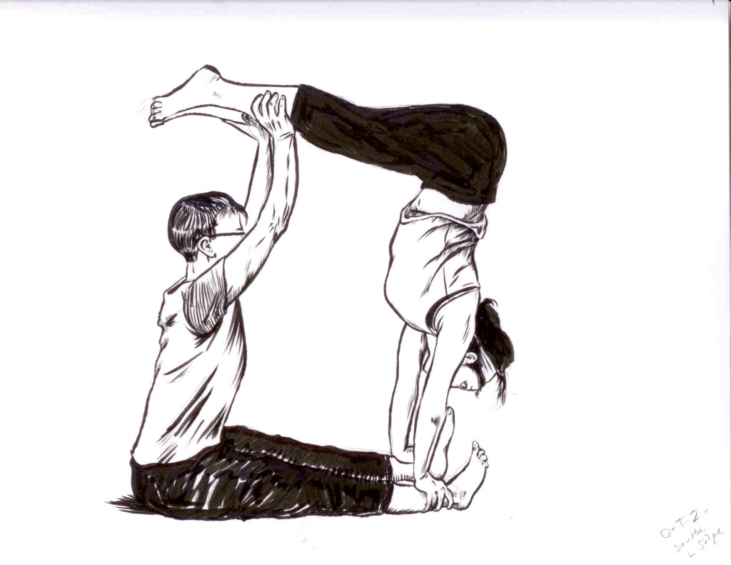 Partner L shaped handstand